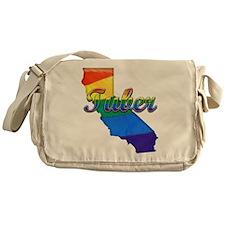 Tuber, California. Gay Pride Messenger Bag