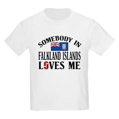 Somebody In Falkland Islands Kids T-Shirt
