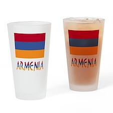 Armenia Flag & Word Drinking Glass
