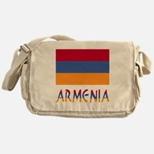 Armenia Flag & Word Messenger Bag