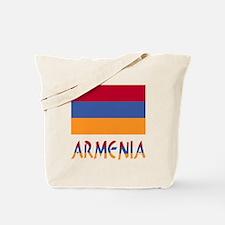 Armenia Flag & Word Tote Bag