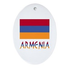 Armenia Flag & Word Ornament (Oval)
