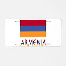 Armenia Flag & Word Aluminum License Plate