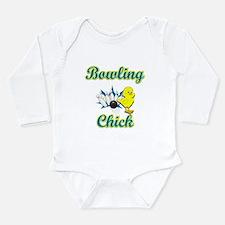 Bowling Chick #2 Long Sleeve Infant Bodysuit