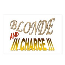 Blonde and in Charge !!! Postcards (Package of 8)