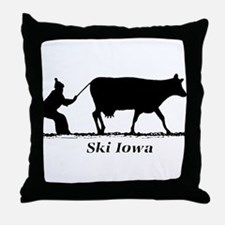 Ski Iowa Throw Pillow
