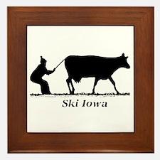 Ski Iowa Framed Tile