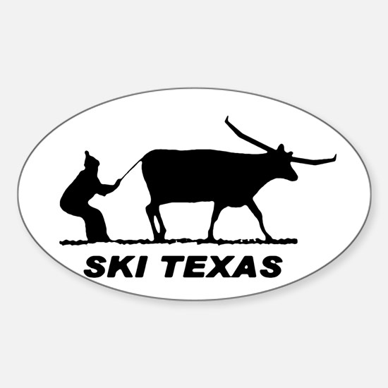 Ski Texas Oval Decal