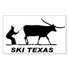 Ski Texas Rectangle Decal