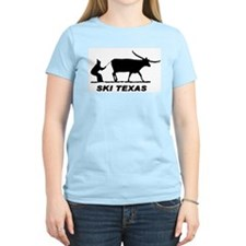 Ski Texas Women's Pink T-Shirt