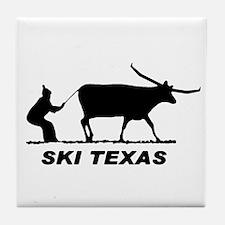 Ski Texas Tile Coaster