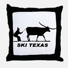 Ski Texas Throw Pillow