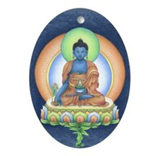Medicine Buddha Oval Ornament