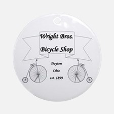 Wright Bros. Cycle Shoppe Ornament (Round)