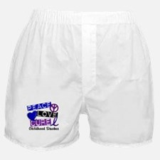 Peace Love Cure Childhood Strokes 1 Boxer Shorts