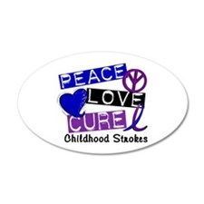 Peace Love Cure Childhood Strokes 1 22x14 Oval Wal