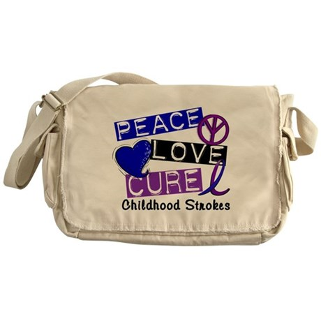 Peace Love Cure Childhood Strokes 1 Messenger Bag