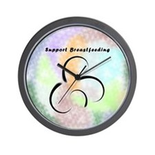 Support Breastfeeding Wall Clock