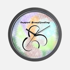 Support Breastfeeding Wall Clock