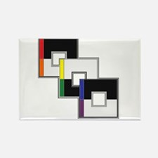Straight Ally Rectangle Magnet