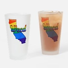 Weed, California. Gay Pride Drinking Glass