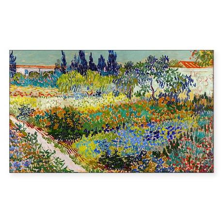 Van Gogh Garden At Arles Sticker (Rectangle)
