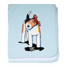 Wire Fox Terrier baby blanket