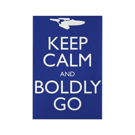 Keep Calm and Boldly Go Rectangle Magnet (10 pack)