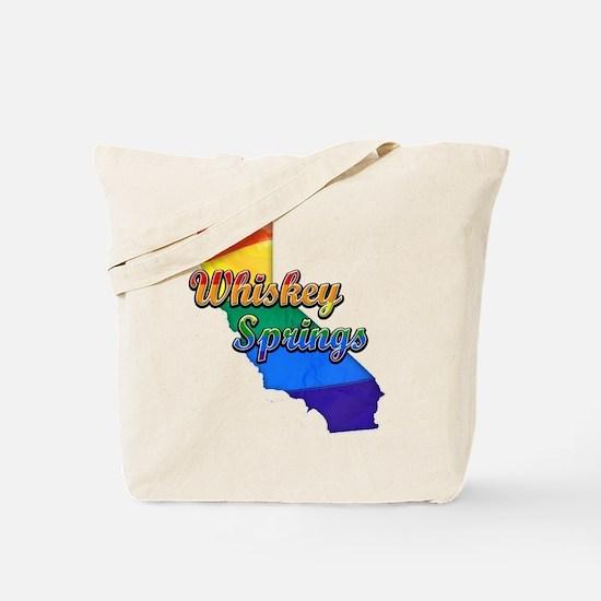 Whiskey Springs, California. Gay Pride Tote Bag