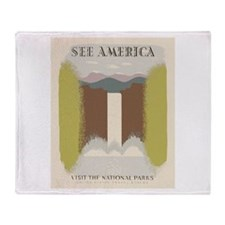 Visit The National Parks Throw Blanket