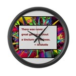 Genius and Madness Large Wall Clock