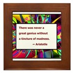 Genius and Madness Framed Tile
