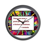 Genius and Madness Wall Clock