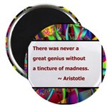 Genius and Madness Magnet