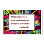 Genius and Madness Sticker (Rectangle 50 pk)