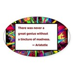 Genius and Madness Sticker (Oval 50 pk)