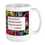 Genius and Madness Large Mug