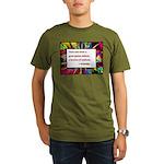 Genius and Madness Organic Men's T-Shirt (dark)
