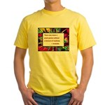 Genius and Madness Yellow T-Shirt
