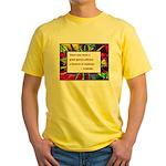 Genius and Madness Yellow T-Shirt
