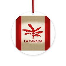 La Canada Flag Ornament (Round)