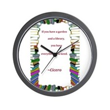 A Garden and A Library Wall Clock