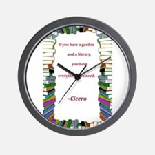 A Garden and A Library Wall Clock