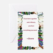 A Garden and A Library Greeting Card