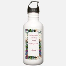 A Garden and A Library Water Bottle