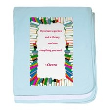 A Garden and A Library baby blanket