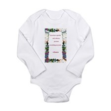 A Garden and A Library Long Sleeve Infant Bodysuit