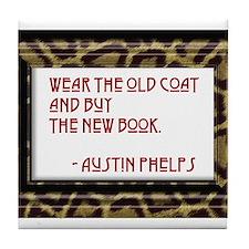 Buy the Book Tile Coaster