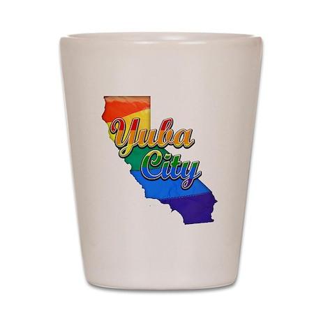 Yuba City, California. Gay Pride Shot Glass