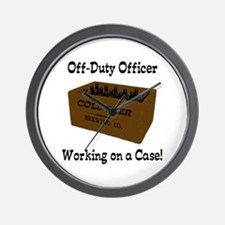Officer Working on a Case! Wall Clock